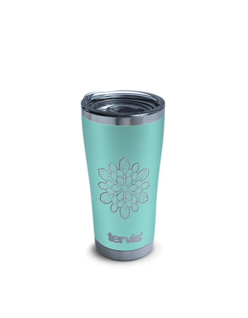 Tervis Tervis 20oz Stainless Steel w/ Hammer Lid Snowflake Engraved on Seafoam