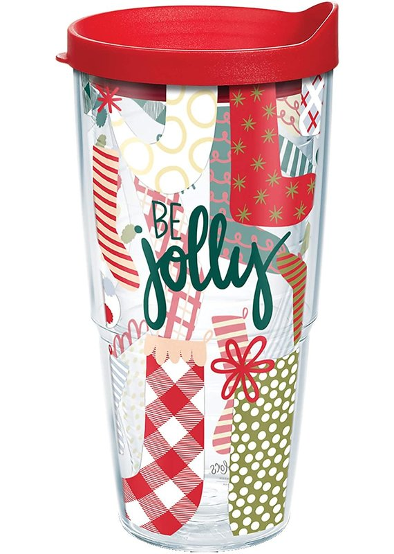 Tervis Tervis 16 oz Wrap w/Lid Coton Colors- Jolly Stockings