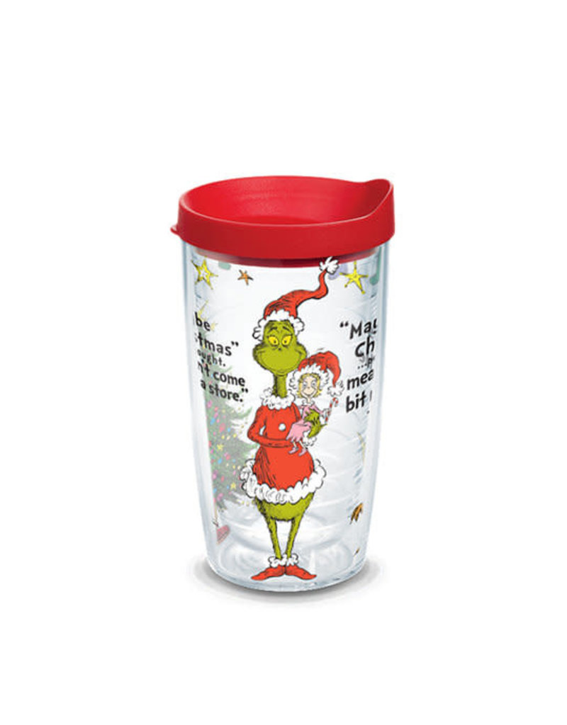 Tervis Tervis 16 oz Wrap w/Lid Grinch Christmas Quote