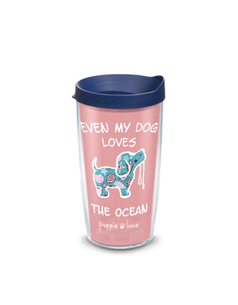 Tervis Tervis 16 oz Wrap w/Lid Puppy Love- Dog Loves The Ocean