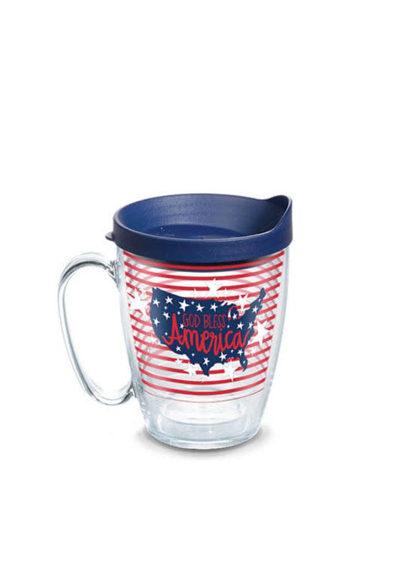 Tervis Tervis 16 oz Mug w/Lid Coton Colors- God Bless America