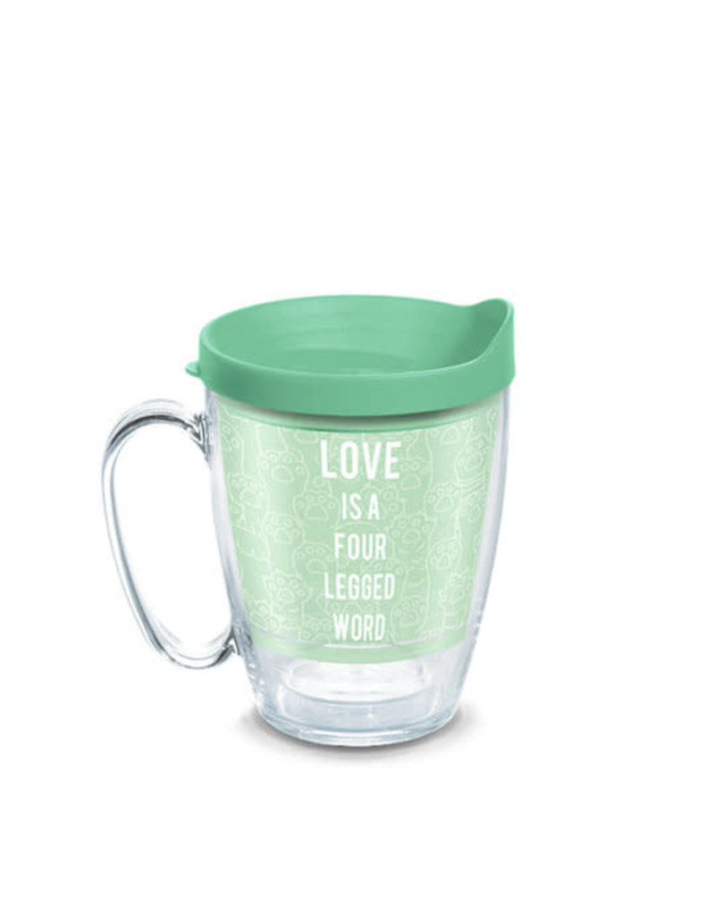 Tervis Tervis 16 oz Mug w/Lid Love Is A Four Legged Word