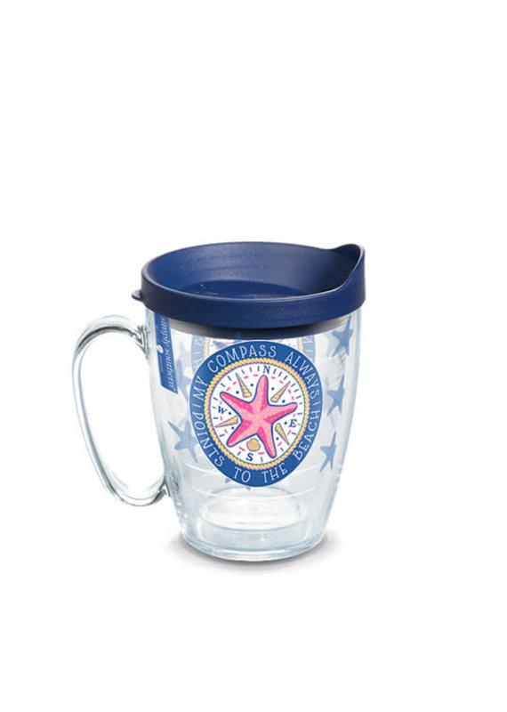 Tervis Tervis 16 oz Mug w/Lid SS- Compass Starfish