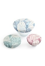Dish Covers (set of 3) Leaf Pattern