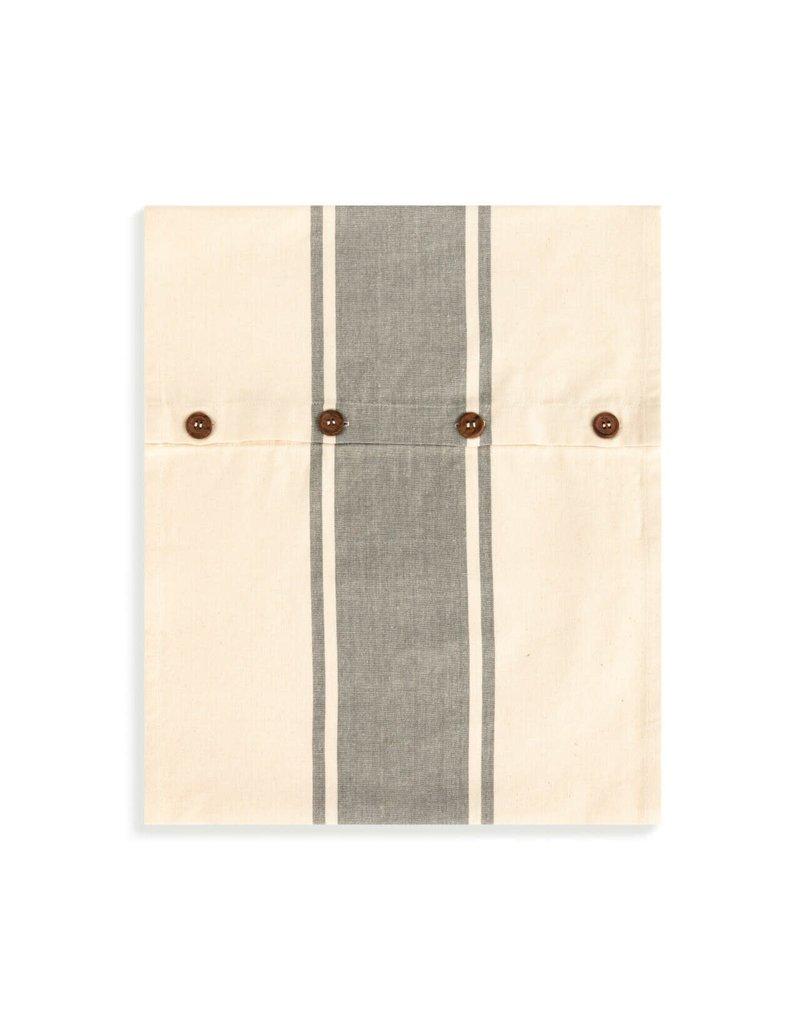 Infinity Loop Towel Gray Stripe