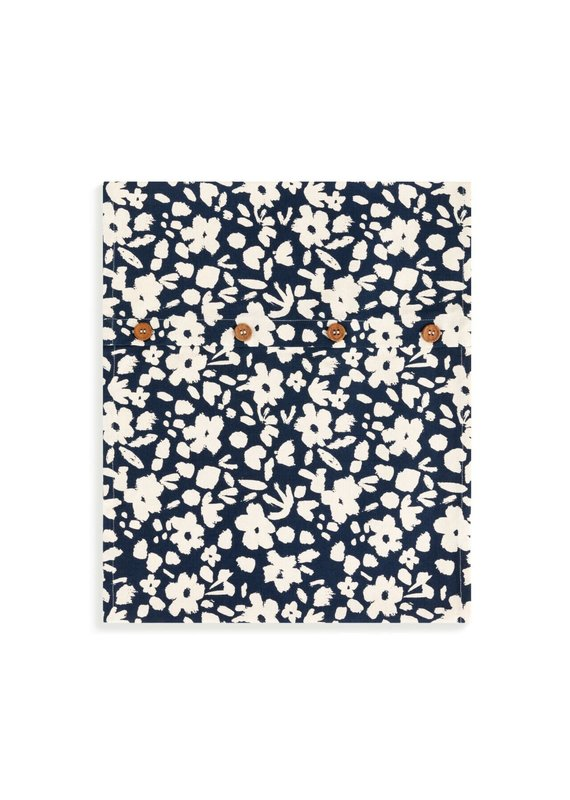 Infinity Loop Towel Navy Floral