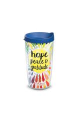 Tervis Tervis 16 oz Wrap w/Lid Hope Peace Gratitude