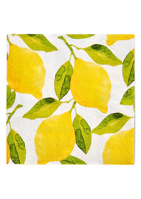 Sophisti Plate Cocktail Napkin Lemons/16ct