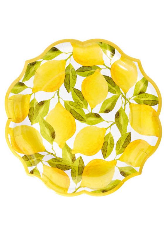 Sophisti Plate Dinner Plate Lemons/8ct