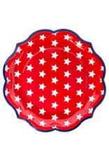 Sophisti Plate Dinner Plate Red Patriotic/8ct