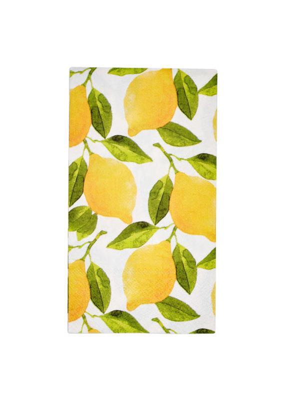 Sophisti Plate Guest Towel Lemons/16ct