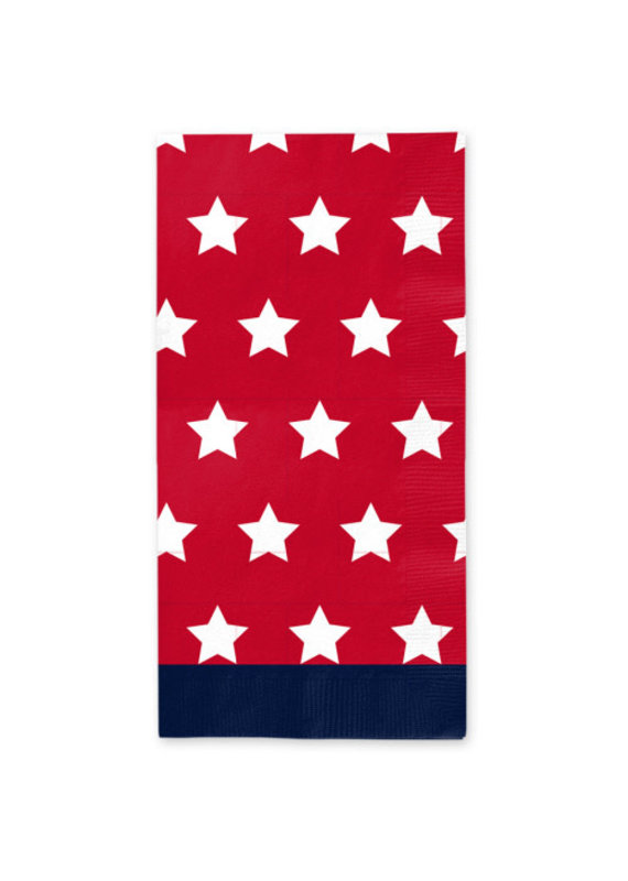 Sophisti Plate Guest Towel Red Patriotic/16ct