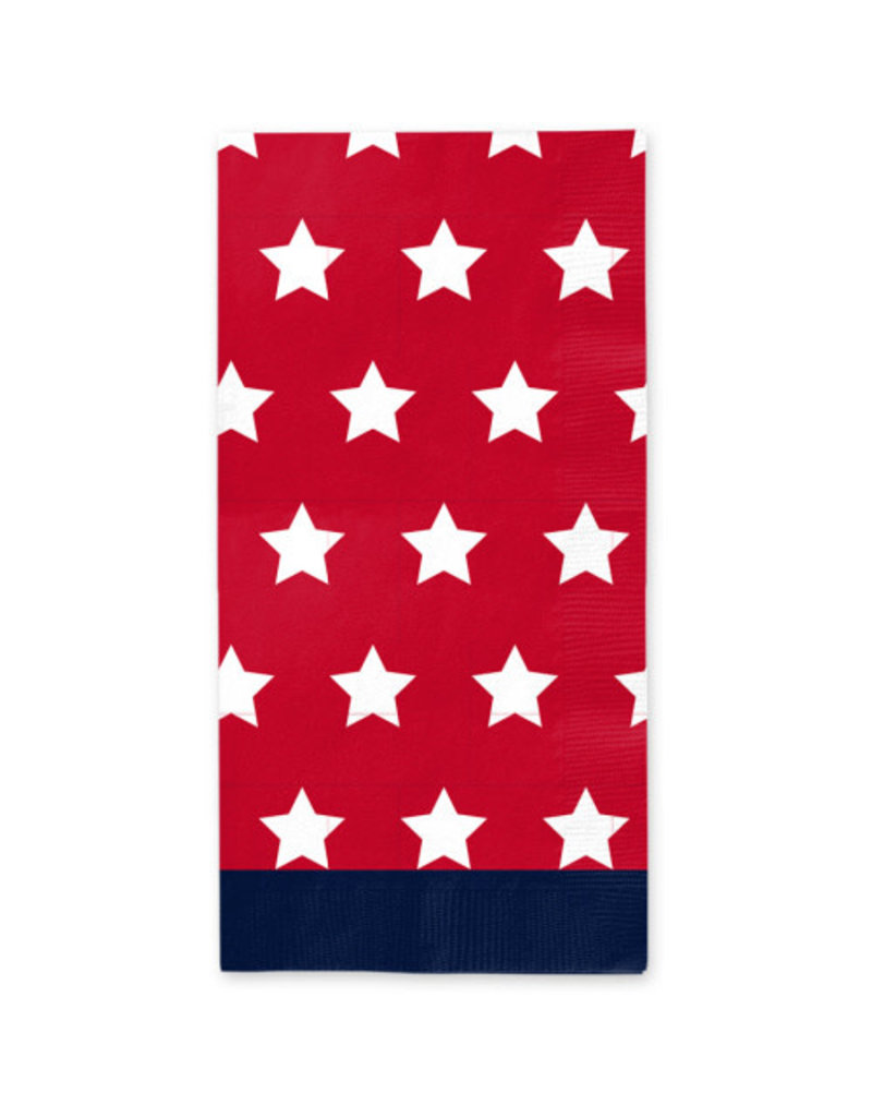 Sophisti Plate Guest Towel Red Patriotic/16ct