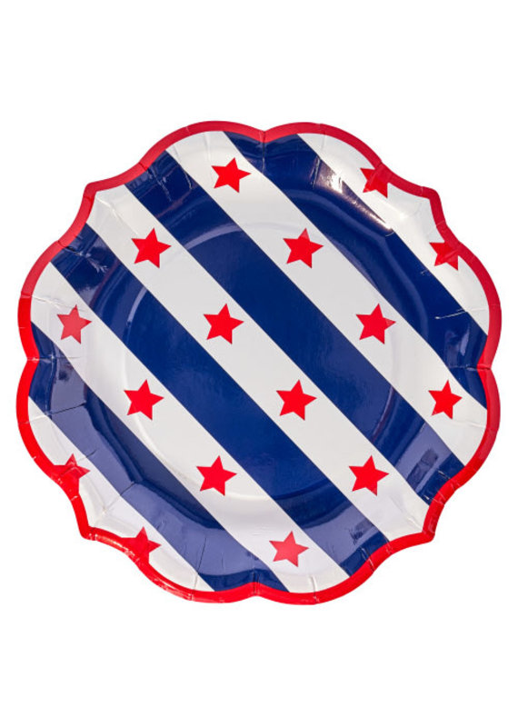 Sophisti Plate Salad Plate Red Patriotic/8ct