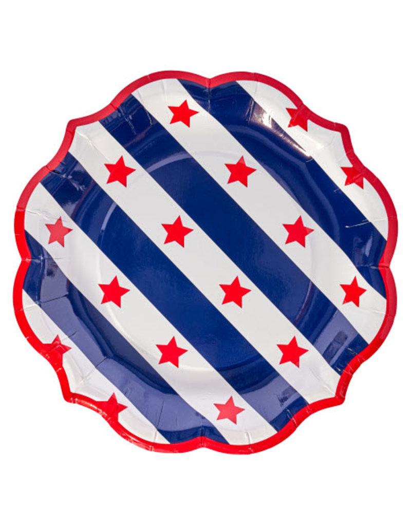 Sophisti Plate Salad Plate Red Patriotic/8ct