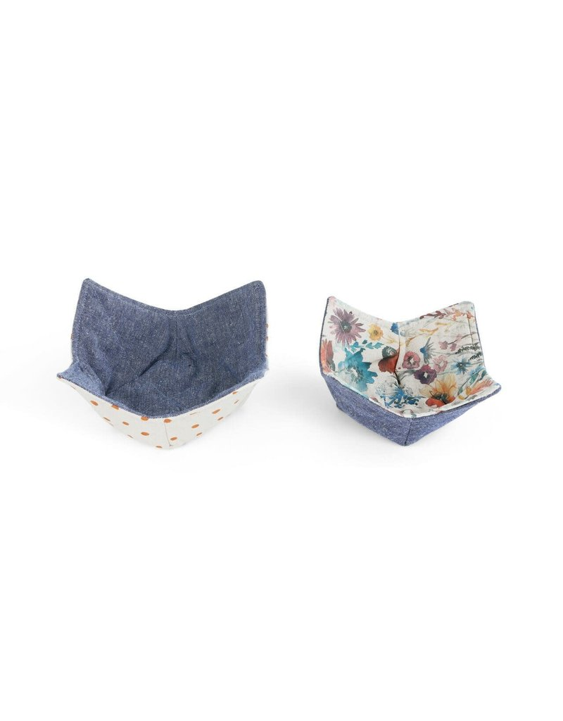 Microwavable Bowl Pot Holder - Set of 2 Meadow Flowers