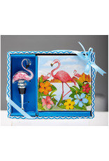 Entertaining Essentials Napkin & Stopper Set Flamingo