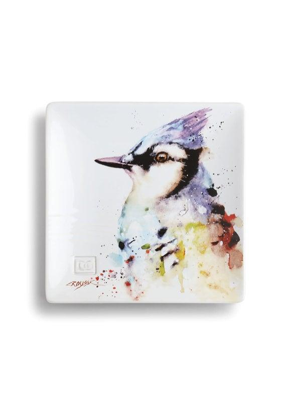Snack Plate Blue Jay