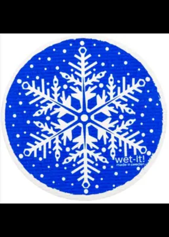 Wet-It Wet It Round Snowflake Blue