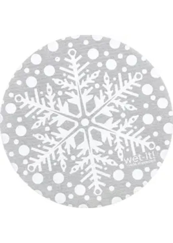 Wet-It Wet It Round Snowflake Silver