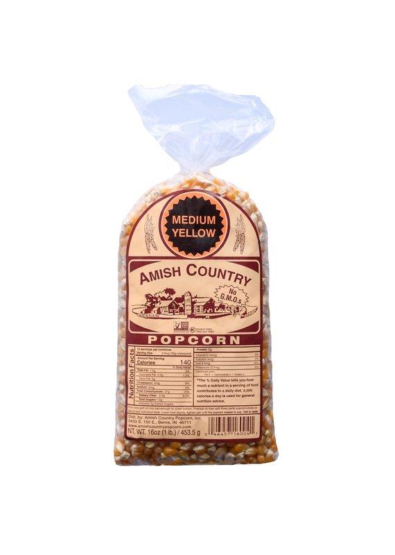 Amish Country Medium Yellow 1lb Popcorn