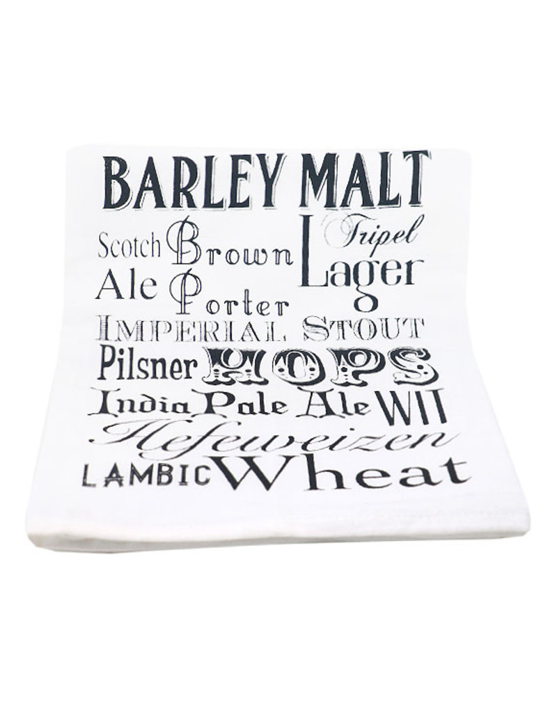 Coin Laundry Beer Words Cotton Kitchen Towel