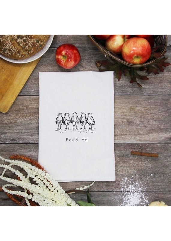 Coin Laundry Feed Me Cotton Kitchen Towel