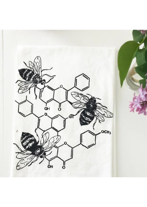 Coin Laundry Honey Chemistry Cotton Kitchen Towel
