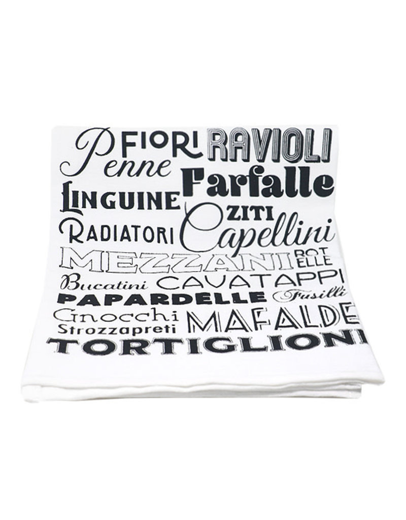 Coin Laundry Pasta Words Kitchen Towel