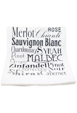 Coin Laundry Wine Words Cotton Kitchen Towel