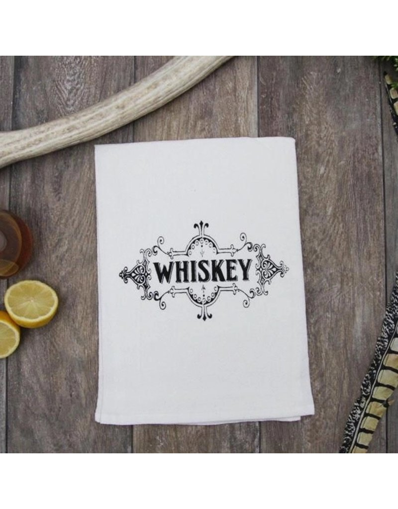 Coin Laundry Whiskey Label Kitchen Bar Towel