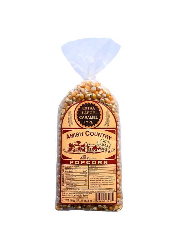 Amish Country Extra Large Caramel 1lb Popcorn