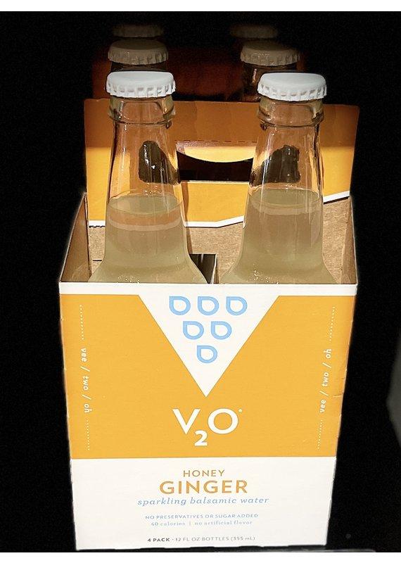V2O V2O 4 Pack Sparkling Balsamic Water Honey Ginger