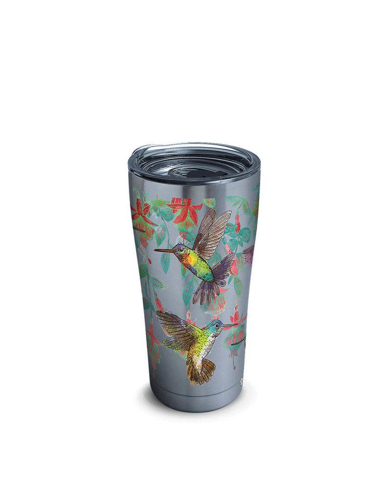 Tervis Tervis 20 ozStainless Steel With Slider Lid Colorful Hummingbirds