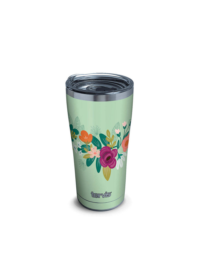 Tervis Tervis 20 ozStainless Steel With Slider Lid Neo Mint Floral