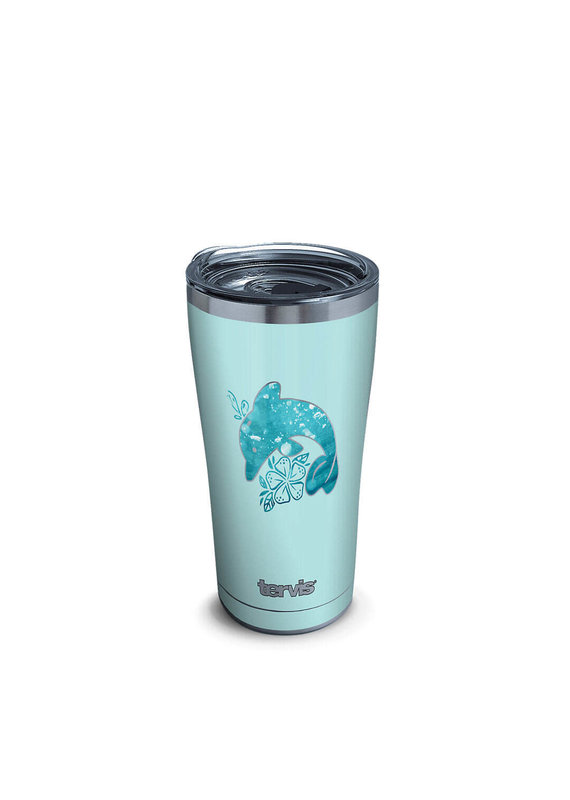 Tervis Tervis 20oz Stainless Steel w/ Hammer Lid Dolphin Aqua Icon