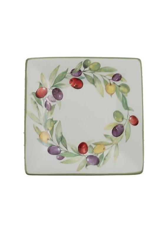 Tidbit Plates Olive Wreath