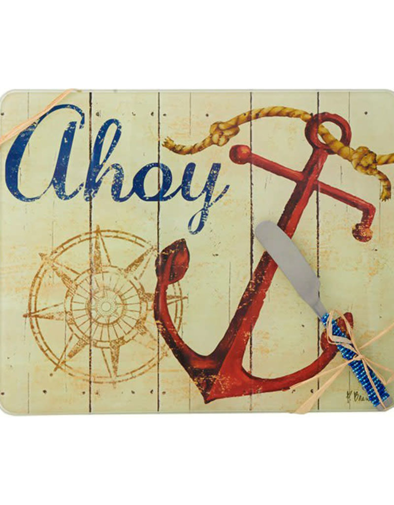Entertaining Essentials Cheese Board w/Spreader Ahoy