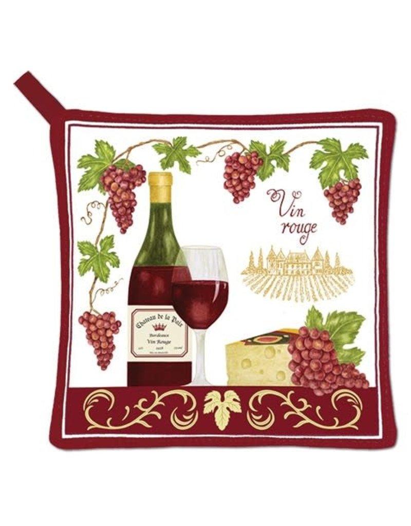 Alice Cottage Potholder Wine