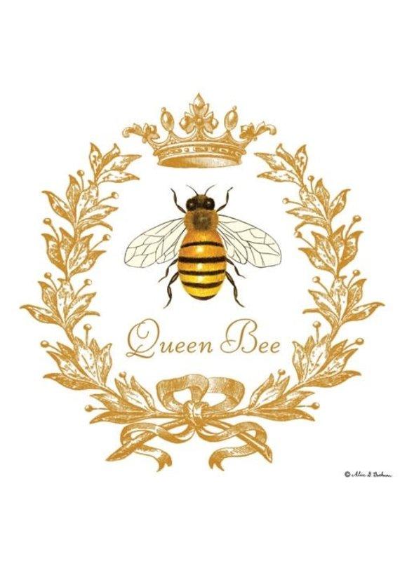 Alice Cottage Single Flour Sack Towel Queen Bee