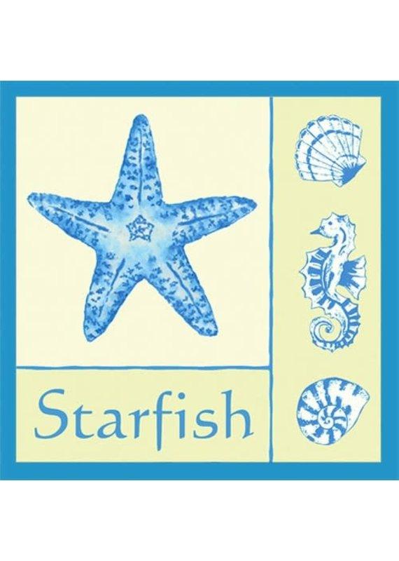 Alice Cottage Single Flour Sack Towel Starfish