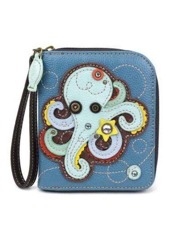 Chala Chala Zip-Around Wallet Octopus