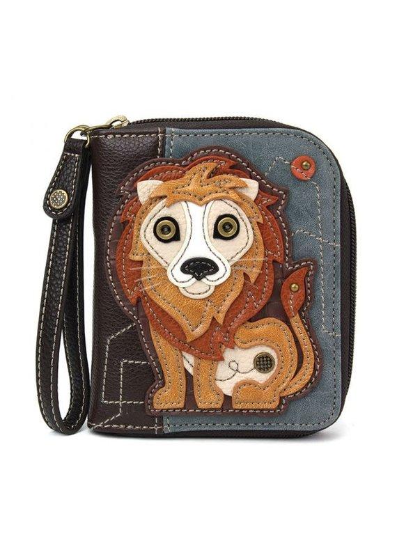 Chala Chala Zip-Around Wallet Lion