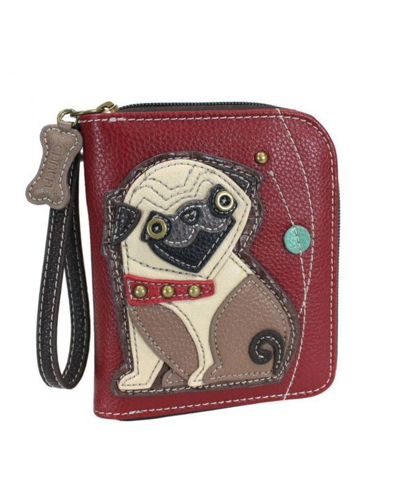 Chala Chala Zip-Around Wallet Pug