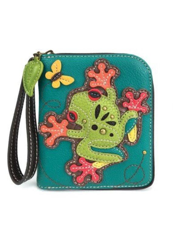 Chala Chala Zip-Around Wallet Frog