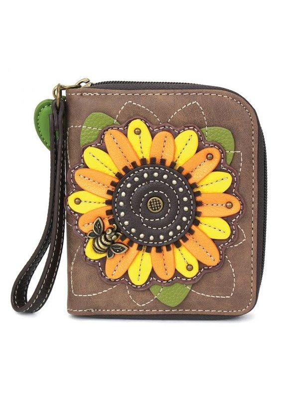 Chala Chala Zip-Around Wallet Sunflower