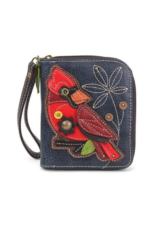 Chala Chala Zip-Around Wallet Cardinal