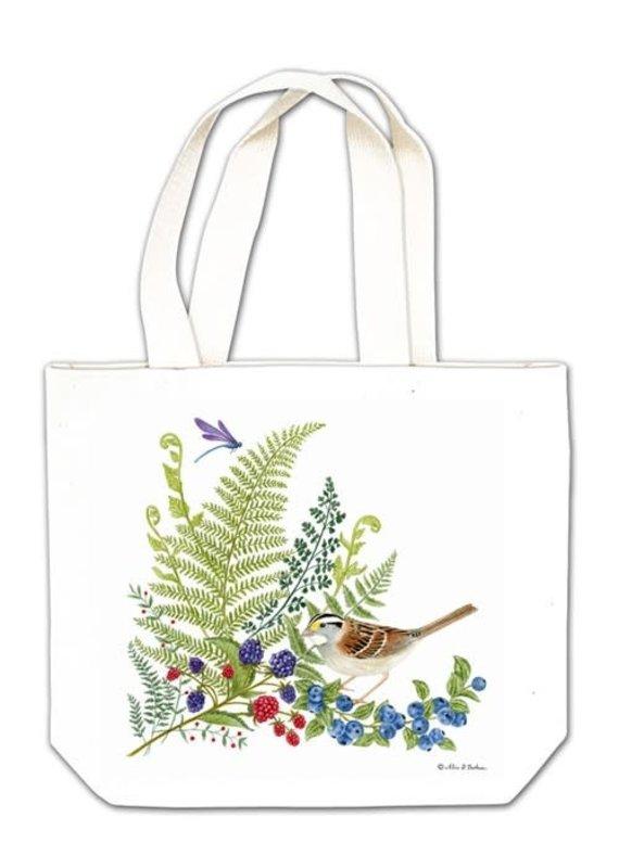 Alice Cottage Gift Tote Bird w Fern
