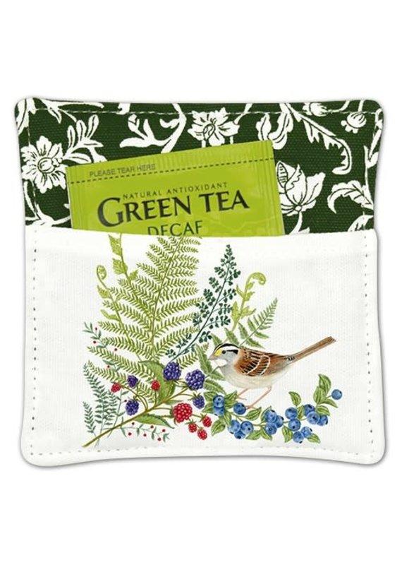 Alice Cottage Tea Mug Mat Bird w Fern