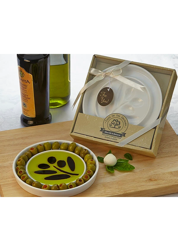 Artisano Designs Taste of the Orchard Olive Oil and Vinegar Dipping & Appetizer Plate